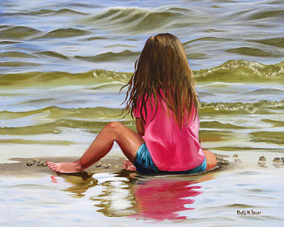 Painting - Little Girl In The Sand by Phyllis Beiser