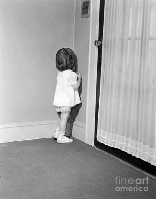Little Girl In Time Out, C.1950-60s Art Print