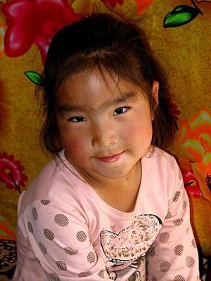 Little Girl Of The Gobi Art Print by Diane Height