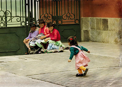 Photograph - Little Girl On The Streets Of Lima, Peru by Kathryn McBride