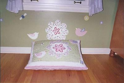 Painting - Little Girl's Bedroom by Anna Villarreal Garbis