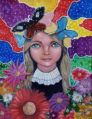 Painting - Little Girls Dream by Saranya Haridasan
