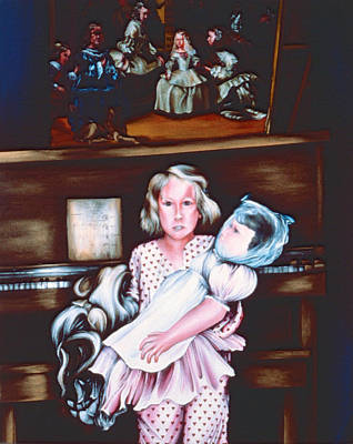 Wall Art - Painting - Little Girls by Gaye Elise Beda