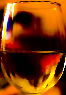Glass Of Wine Digital Art - Little Glass Of Wine by Stephen Anderson