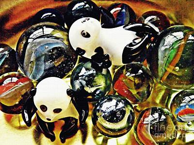Photograph - Little Glass Pandas 19 by Sarah Loft