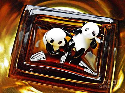 Photograph - Little Glass Pandas 43 by Sarah Loft