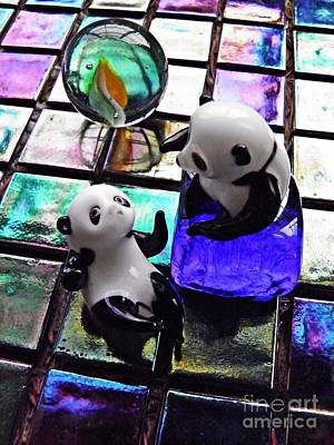 Photograph - Little Glass Pandas 5 by Sarah Loft