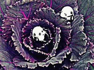 Cabbage Digital Art - Little Glass Pandas 66 by Sarah Loft