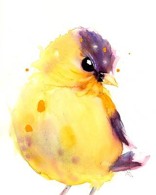 Painting - Little Goldfinch by Dawn Derman