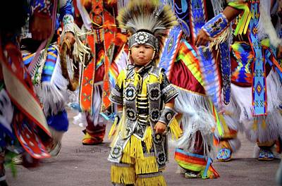 Photograph - Little Grass Dancer by Clarice Lakota