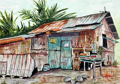 Old Shack Out Back Art Print by Tim Ross