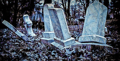 Photograph - Little Gravestones All In A Row by Gary Shepard