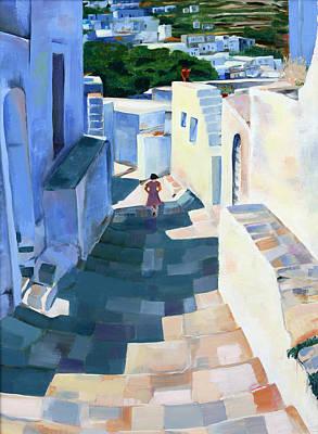 Painting - Little Greek Girl by Jenny anne Morrison