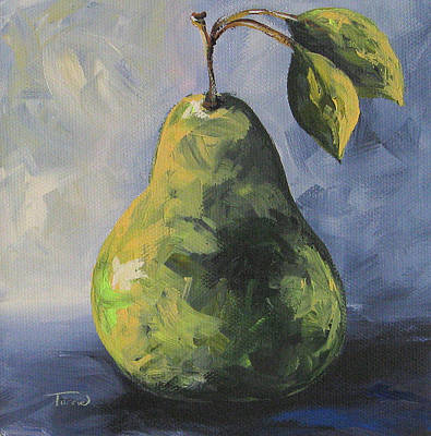 Little Green Pear Art Print