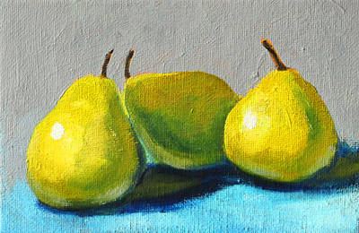 Painting - Little Green Pears by Nancy Merkle