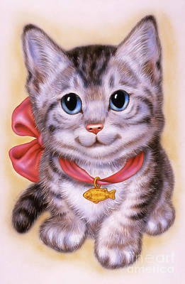 Little Grey Kitten 3 Art Print