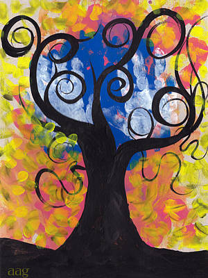 Little Hands Tree Art Print by  Abril Andrade Griffith