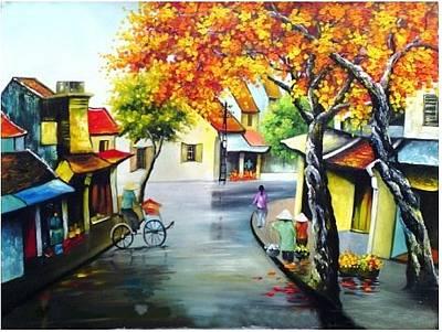 An Pham Painting - Little Hanoi by An Pham