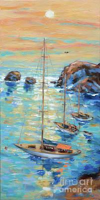 Painting - Little Harbor by Linda Olsen