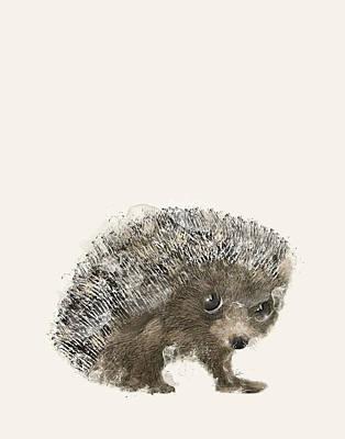 Painting - Little Hedgehog by Bleu Bri