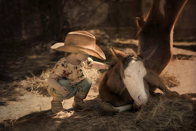 Photograph - Little Horse Whisperer by Robin-Lee Vieira