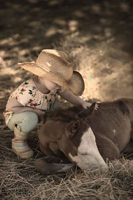 Photograph - Little Horse Whisperer2 by Robin-Lee Vieira