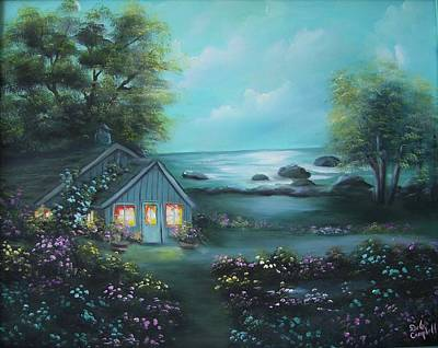 Painting - Little House By The Sea by Debra Campbell