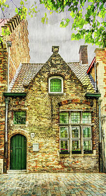 Photograph - Little House In Bruges - Vintage by Weston Westmoreland