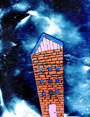 Cosmos Painting - Little House In The Cosmos by Wayne Potrafka