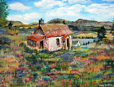 Painting - Little House by Mike Benton