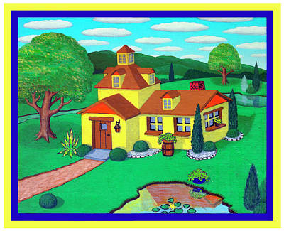 Little House On The Green Art Print by Snake Jagger