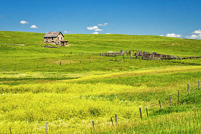 Photograph - Little House On The Prairie by Andy Crawford
