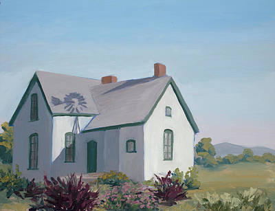Loveland Painting - Little House On The Prairie by Mary Giacomini