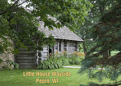 Photograph - Little House Wayside Card by George Hawkins