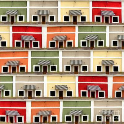 Colorful Abstract Photograph - Little Houses by Edward Fielding