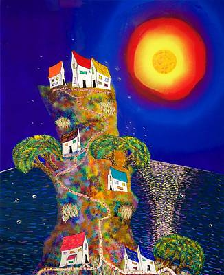 Painting - Little Houses by Patrick OLeary