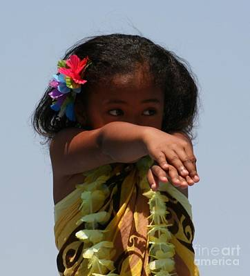 Art Print featuring the photograph Little Hula Dancer by Cynthia Marcopulos
