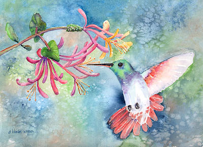 Hummingbird Painting - Little Hummingbird by Arline Wagner