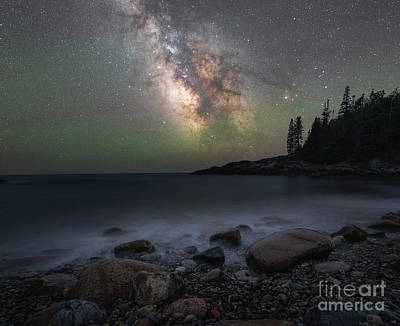 Photograph - Little Hunters Cove At Night by Michael Ver Sprill