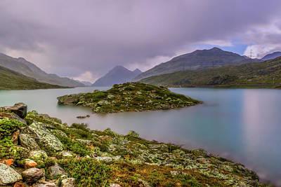 Photograph - Little Island On White Lake by Roberto Pagani