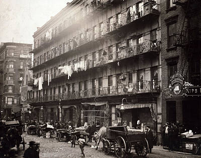 Little Italy, A Row Of Tenements Art Print by Everett