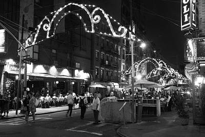 Photograph - Little Italy At Night by Claudia Heidelberger