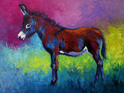 Mexican Painting - Little Jenny - Burro by Marion Rose