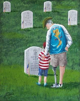 Iraq Painting - Little Joe  Big Joe by Gene Ritchhart