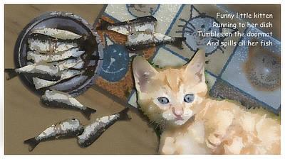 Digital Art - Little Kitten by Al G Smith