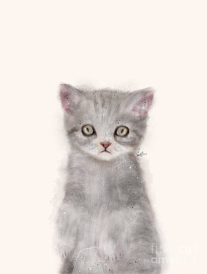 Painting - Little Kitten by Bri B