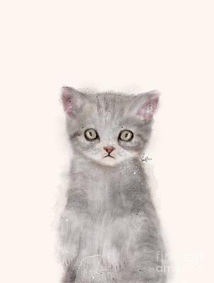 Painting - Little Kitten by Bri B