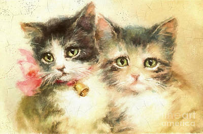 Little Kittens Art Print