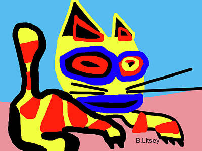Little Kitty Original by International Artist Brent Litsey