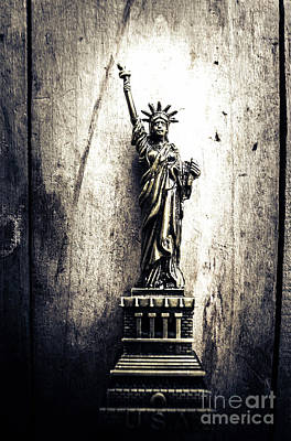 Statue Of Liberty Photograph - Little Lady Of Vintage Usa by Jorgo Photography - Wall Art Gallery